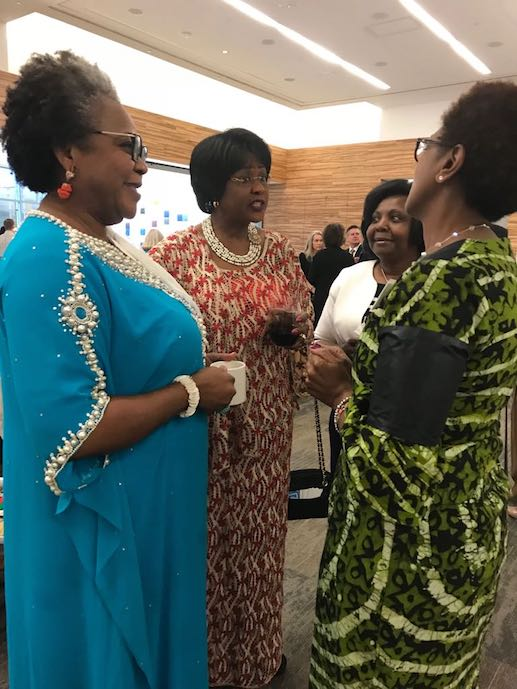 Ambassador Arikana with Ms Victoria Ehieze from Nigeria and members of PADWA, at the Child Legacy Fundraiser
