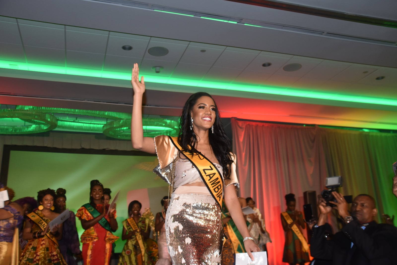 Lukwesa beat a dozen other contestants in a pageant that was themed on African dress style and important historical and development aspects of Africa such as the ongoing negative effect of the Berlin Conference on Africa; the AUs Agenda 2063, and women empowerment issues.